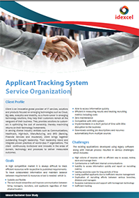 Application Tracking System for Service Organization