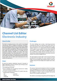 Channel List Editor for Electronic Industry