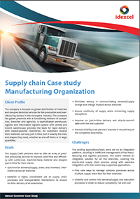Supply Chain for Manufacturing Organization